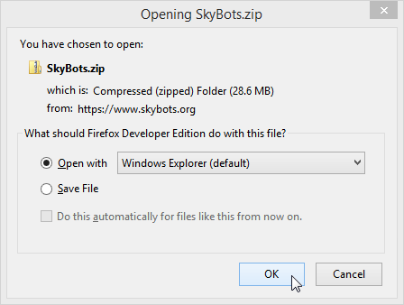 Downloading SkyBots